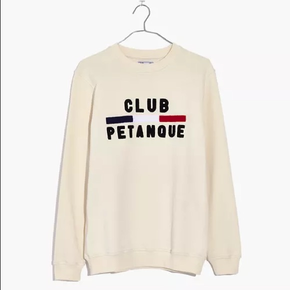 NWT Madewell x Club Pétanque Crewneck Sweatshirt